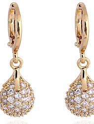 XINXIN Women's 18K Gold Zircon Earrings ER0225