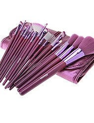 MEGAGA Purple PU Case 18Pcs Cosmetic Brush Set
