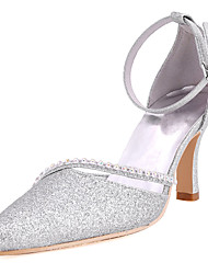 Women's Shoes Lace Spring / Summer / Fall D'Orsay & Two-Piece Wedding Stiletto Heel Ivory / White / Gold