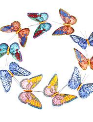 arredamento matrimonio risplendere 3d organza artificiale farfalla - set di 15 pezzi