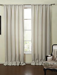 Two Panels Curtain Neoclassical , Solid Living Room Linen Material Curtains Drapes Home Decoration For Window