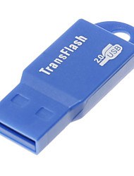 Mini USB Memory Card Reader (Blauw)