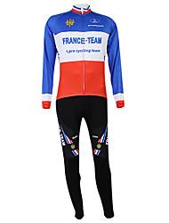 Kooplus2013 Campeonato Jersey França poliéster e Lycra e tecido elástico Ciclismo Suits (camisa + Bib-calças)