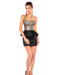 Women's Bandeau Backless Mini Skirt & Top Suit
