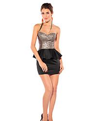 Bandeau sin respaldo Mini Skirt & Top Traje de Mujeres