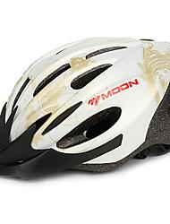 LUA Ciclismo Ouro PC / EPS 21 Vents Luminous Aviso capacete da bicicleta