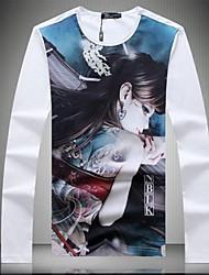 Mouwen ronde hals T-shirt voor mannen Nieuw hoge kwaliteit Long