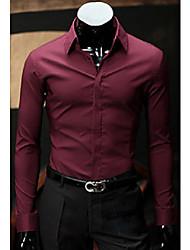 All-Match shirt manica lunga colore solido degli uomini