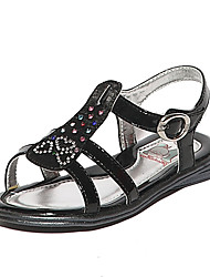 BABUDOU Girl's Fashion Sandals(Black)