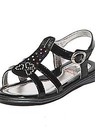 BABUDOU Mädchen Mode Sandalen (Schwarz)