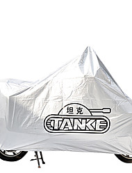 Tanked 111 PVC Material Motorcycle Anti-UV Antifreezing Dustproof Waterproof Outdoor Cover (Silver)