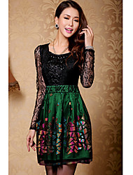 Women's Dresses , Lace/Mesh Casual/Work Duolabana