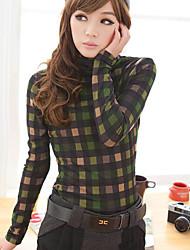 Shuxueer WCL069 Controllare manica lunga Verde basa la camicia