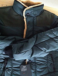 SMR Thicken Stand Collar Coat(Ink Green)