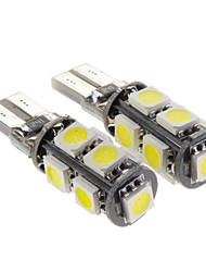 Ampoule Canbus 2.3W 9-LED 160LM 6000K blanc froid lumière LED pour voiture (12V, 2 pcs)