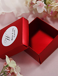 Personalized Pearl Paper Wedding Favor Boxes - Set of 12 (More Colors)
