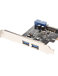 Extend with 2 USB 3.0 downstream ports and 1 USB3.0 20-pin Connector with 15pin SATA power