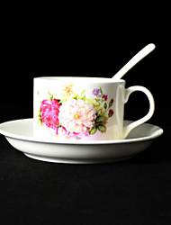 Peony Coffee Mug,Porcelain 5oz