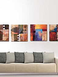 Stretched Canvas Print Art Abstract Board of Colors Set of 4