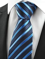 De cravate de noce ami Gift # de New rayé Bleu marine JACQUARD Hommes 0005