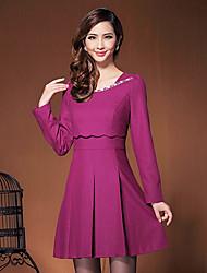 Women's Dresses , Tweed Casual/Work Duolabana