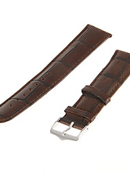 22 millimetri Uomo Bamboo Grain Pelle Watch Band (Brown)