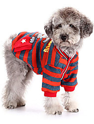 Cute Lovable Doggie Stripes Pattern Coat for Pets Dogs (Assorted Sizes)
