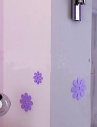 3pcs Fleurs 3D autocollants, autocollants de mur amovible