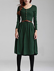 Women's Vintage Knitting Dress