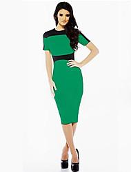 meiyishen vestido conjunta dividida verde de las mujeres