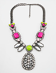 Women's Fashion Fluorescence Alloy Gemmy Necklace
