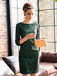 TS Кружевное платье-футляр с рукавами три четверти