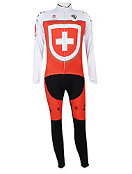 Kooplus2013 Championship Suíça Jersey poliéster e Lycra e elástico Ciclismo Suits Tecido (camisa + calça)