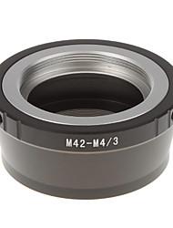 M42-M4 / 3 объектива камеры переходное кольцо (черный)