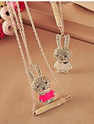 Dumoo Сияющий Кролик шаблон Diamonade Ожерелье (случайная поставка & Просто только один)