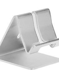 Sostenedor del metal de aluminio Soporte de escritorio para Universal Mobile Phone (Blanco)