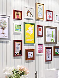Contemporary Colorful Collage Picture Frames, Set of 16