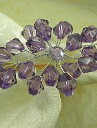 Rural floral de la boda Anillo de servilleta Conjunto de 6, acrílico Dia 4.5cm