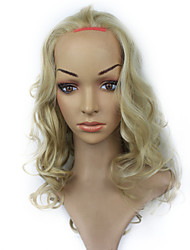 Lace Front Synthetic Medium Curly Mixed Color Hair Lace Wig