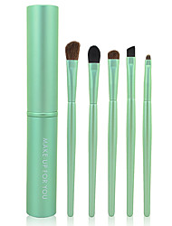 Make-up For You Portable 5pcs Eye Makeup Brushes Set(Light Green)