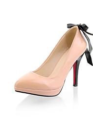 Salto agulha couro de patente das mulheres com Bowknot Bombas Shoes (mais cores)