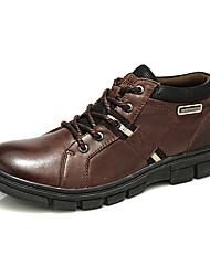 Dos homens de couro reais de choque de absorção Caminhadas Shoes