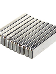 20 x 5 x 2mm Powerful NdFeB Magnets - Silver (10 PCS)