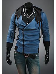 Aowofs hombre con capucha Cardigan Sudaderas Chaquetas Azul