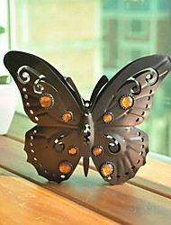 Butterfly Shaped Metal Candel Holder With Rhinestone
