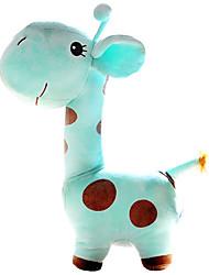 bonito dos desenhos animados azul girafa travesseiro novidade