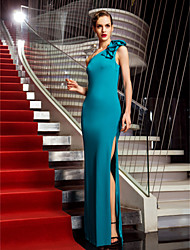 Military Ball / Formal Evening Dress - Jade Plus Sizes / Petite Sheath/Column One Shoulder Floor-length Jersey