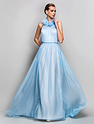 TS Couture® Prom / Formal Evening / Military Ball Dress - Open Back Plus Size / Petite Sheath / Column High Neck Sweep / Brush Train Chiffon with