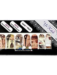 14PCS Full-tip Paris Nail Art Stickers Decals Environmental Zwangere