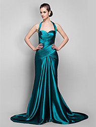 TS Couture Military Ball / Formal Evening Dress - Jade Plus Sizes / Petite Trumpet/Mermaid Halter Sweep/Brush Train Stretch Satin